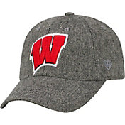 Top of the World Men's Wisconsin Badgers Grey Jones Adjustable Hat
