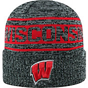Top of the World Men's Wisconsin Badgers Sockit To Me Grey Knit Beanie