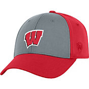 Top of the World Men's Wisconsin Badgers Grey/Red Two Tone Adjustable Hat