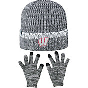 Top of the World Youth Wisconsin Badgers Grey Lil Cyber Beanie and Gloves Set