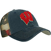 Top of the World Men's Wisconsin Badgers Blue Flagtacular Adjustable Hat