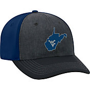 Top of the World Men's West Virginia Mountaineers Grey/Blue Reach 1Fit Flex Hat