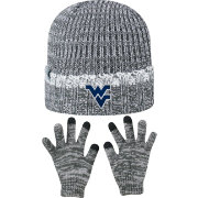 Top of the World Youth West Virginia Mountaineers Grey Lil Cyber Beanie and Gloves Set