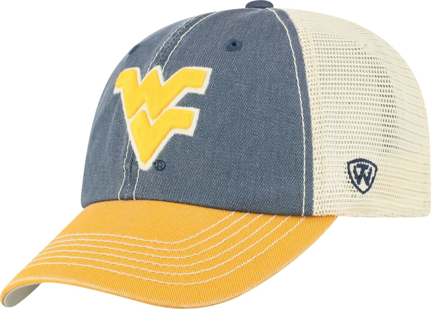 Top of the World Men's West Virginia Mountaineers Blue/Gold Off Road Adjustable Hat