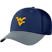 Top of the World Men's West Virginia Mountaineers Blue Twill Elite Mesh 1Fit Flex Hat