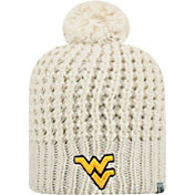 Top of the World Women's West Virginia Mountaineers Slouch White Knit Beanie