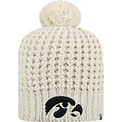 Top of the World Women's Iowa Hawkeyes Slouch White Knit Beanie