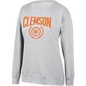 Top of the World Women's Clemson Tigers Favorite Fleece White Crewneck Sweatshirt