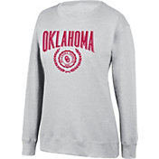 Top of the World Women's Oklahoma Sooners Favorite Fleece White Crewneck Sweatshirt