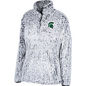 Top of the World Women's Michigan State Spartans Grey Coast to Coast Sherpa Jacket
