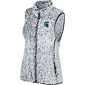 Top of the World Women's Michigan State Spartans Grey Lift Sherpa Vest