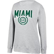 Top of the World Women's Miami Hurricanes Favorite Fleece White Crewneck Sweatshirt