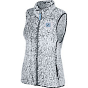 Top of the World Women's North Carolina Tar Heels Grey Lift Sherpa Vest