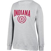 Top of the World Women's Indiana Hoosiers Favorite Fleece White Crewneck Sweatshirt