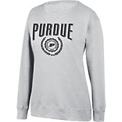 Top of the World Women's Purdue Boilermakers Favorite Fleece White Crewneck Sweatshirt