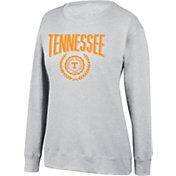 Top of the World Women's Tennessee Volunteers Favorite Fleece White Crewneck Sweatshirt