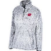 Top of the World Women's Wisconsin Badgers Grey Coast to Coast Sherpa Jacket