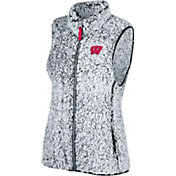 Top of the World Women's Wisconsin Badgers Grey Lift Sherpa Vest