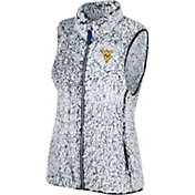 Top of the World Women's West Virginia Mountaineers Grey Lift Sherpa Vest