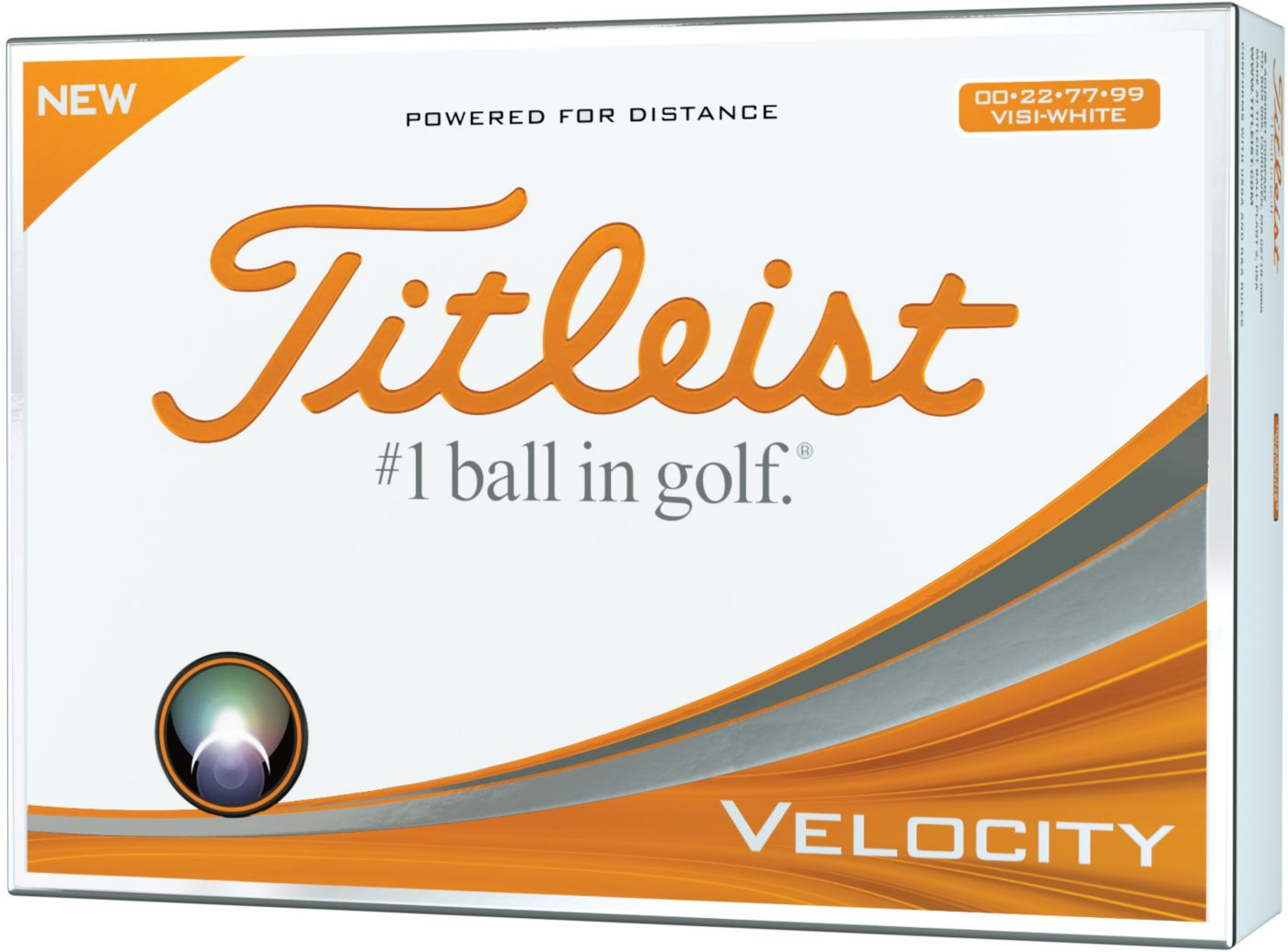 Titleist Velocity Double Numbers Personalized Golf Balls