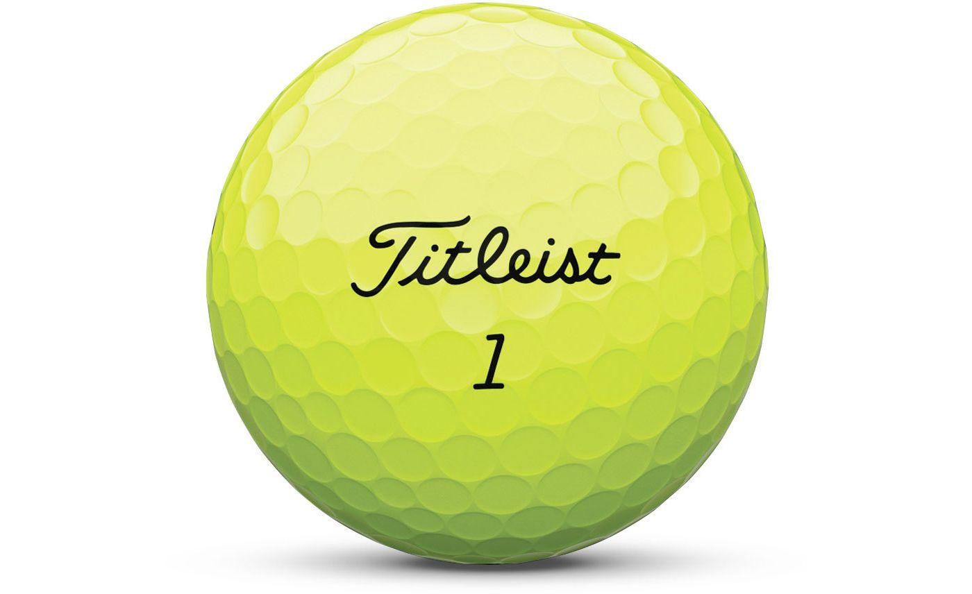 Titleist AVX Optic Yellow Personalized Golf Balls