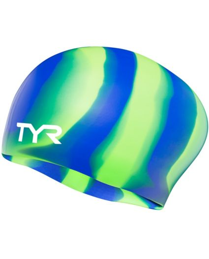 TYR Long Hair Multicolor Swim Cap. noImageFound 2b5508250