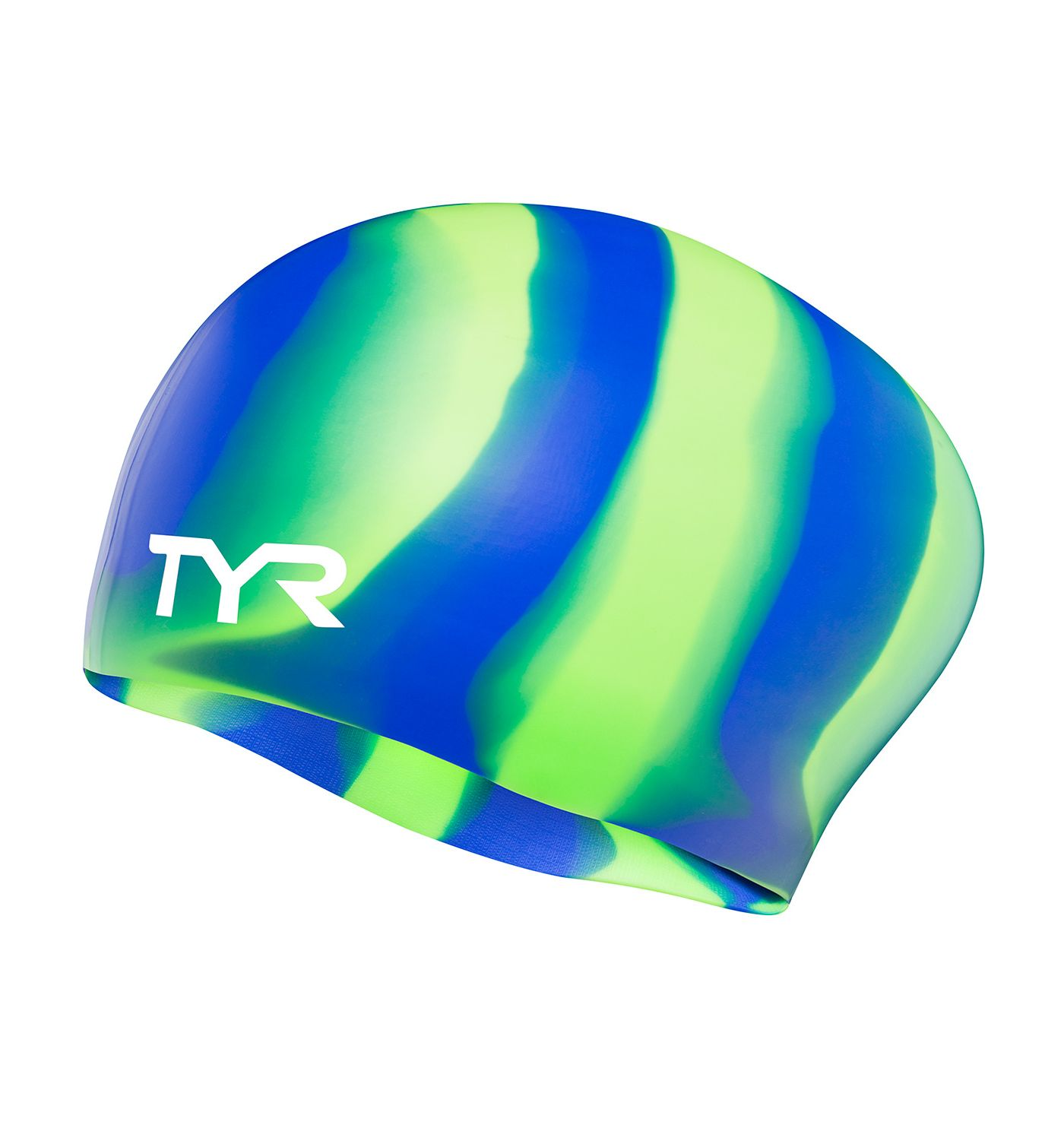 TYR Long Hair Multicolor Swim Cap