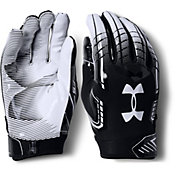 Under Armour Adult F6 Receiver Gloves in Black/White