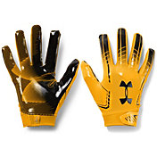 Under Armour Adult F6 Receiver Gloves in Steeltown Gold/Black