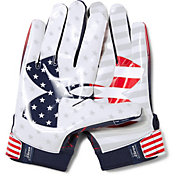 Under Armour Adult Limited Edition F6 Receiver Gloves in USA Novelty
