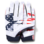 Under Armour Youth Limited Edition F6 Receiver Gloves in USA Novelty