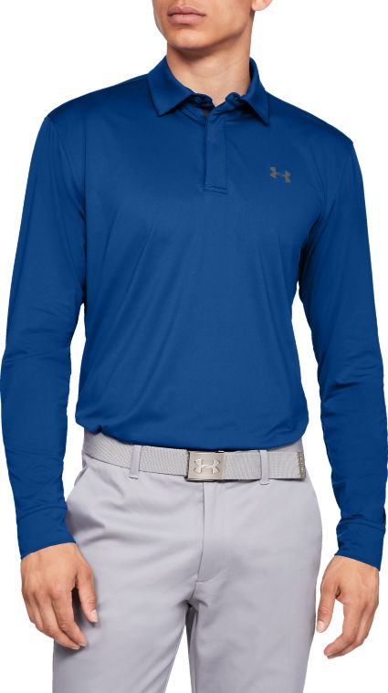 Under Armour Men's Long Sleeve Golf Polo – Extended Sizes