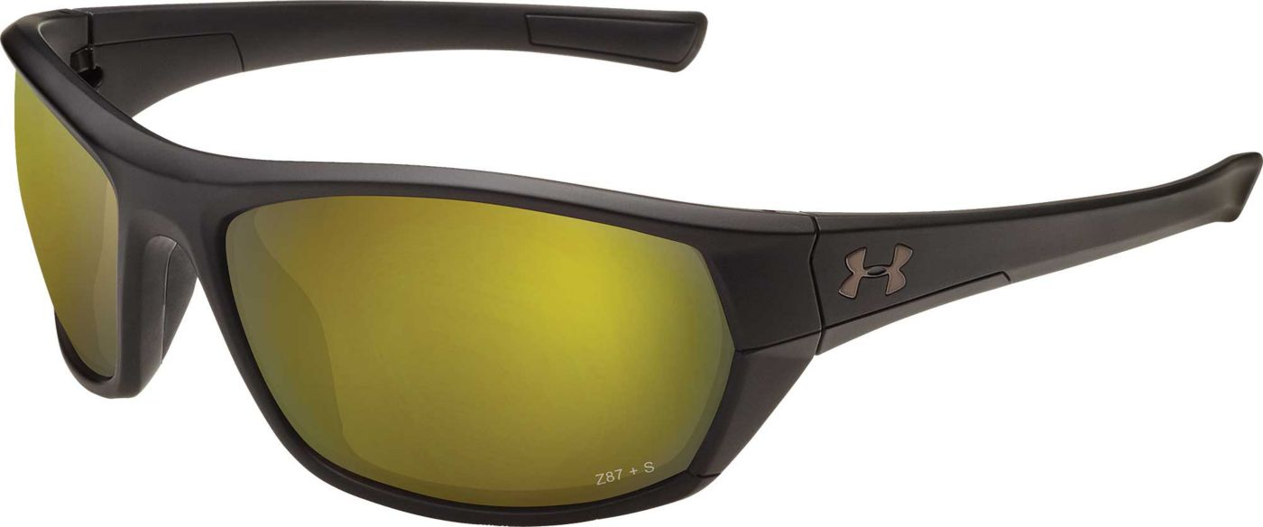 Under Armour Men's Powerbrake Fishing Tuned Shoreline Polarized Sunglasses