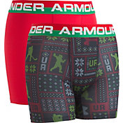 Under Armour Boys' Holiday Sweater Set Printed HeatGear Boxer Briefs – 2 Pack
