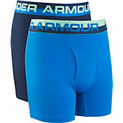 Under Armour Boys' Solid Performance Boxers – 2 Pack
