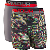 Under Armour Boys' Static Print Boxers – 2 Pack