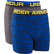 Under Armour Boys' Wordmark Cotton Boxers – 2 Pack