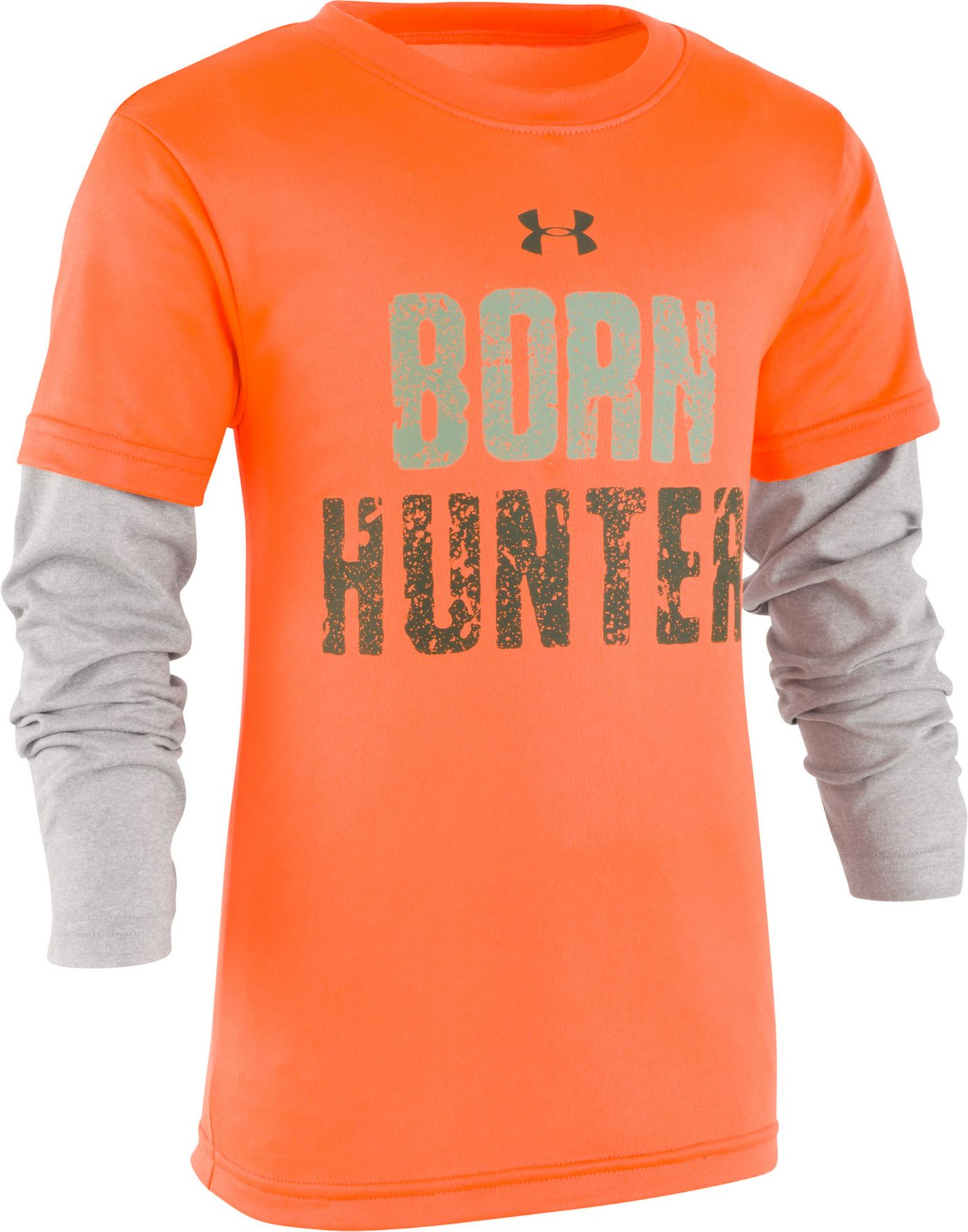 Under Armour Little Boys' Born to Hunt Slider Long Sleeve Shirt