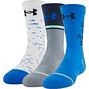 Under Armour Boys' Phenom 4.0 Crew Socks 3 Pack