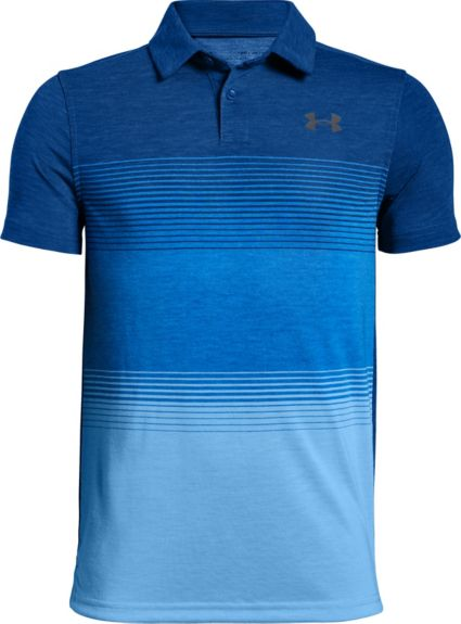 Under Armour Boys' Jordan Spieth Threadborne Gradient Golf Polo