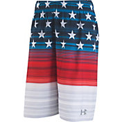 Under Armour Boys' Americana Striped Volley Board Shorts