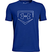 Under Armour Boys' Plate Icon Baseball Graphic T-Shirt