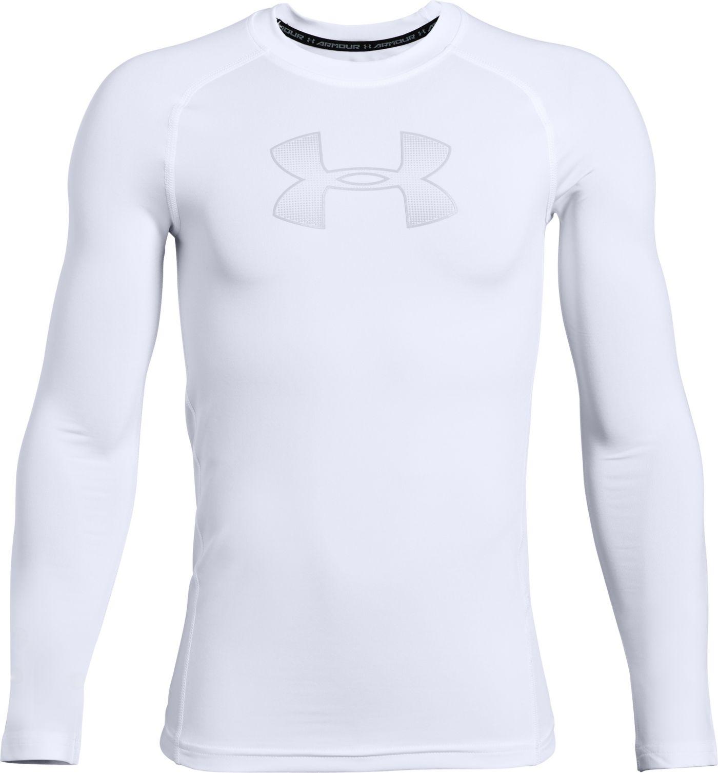 Under Armour Boys' HeatGear Armour Long Sleeve Shirt