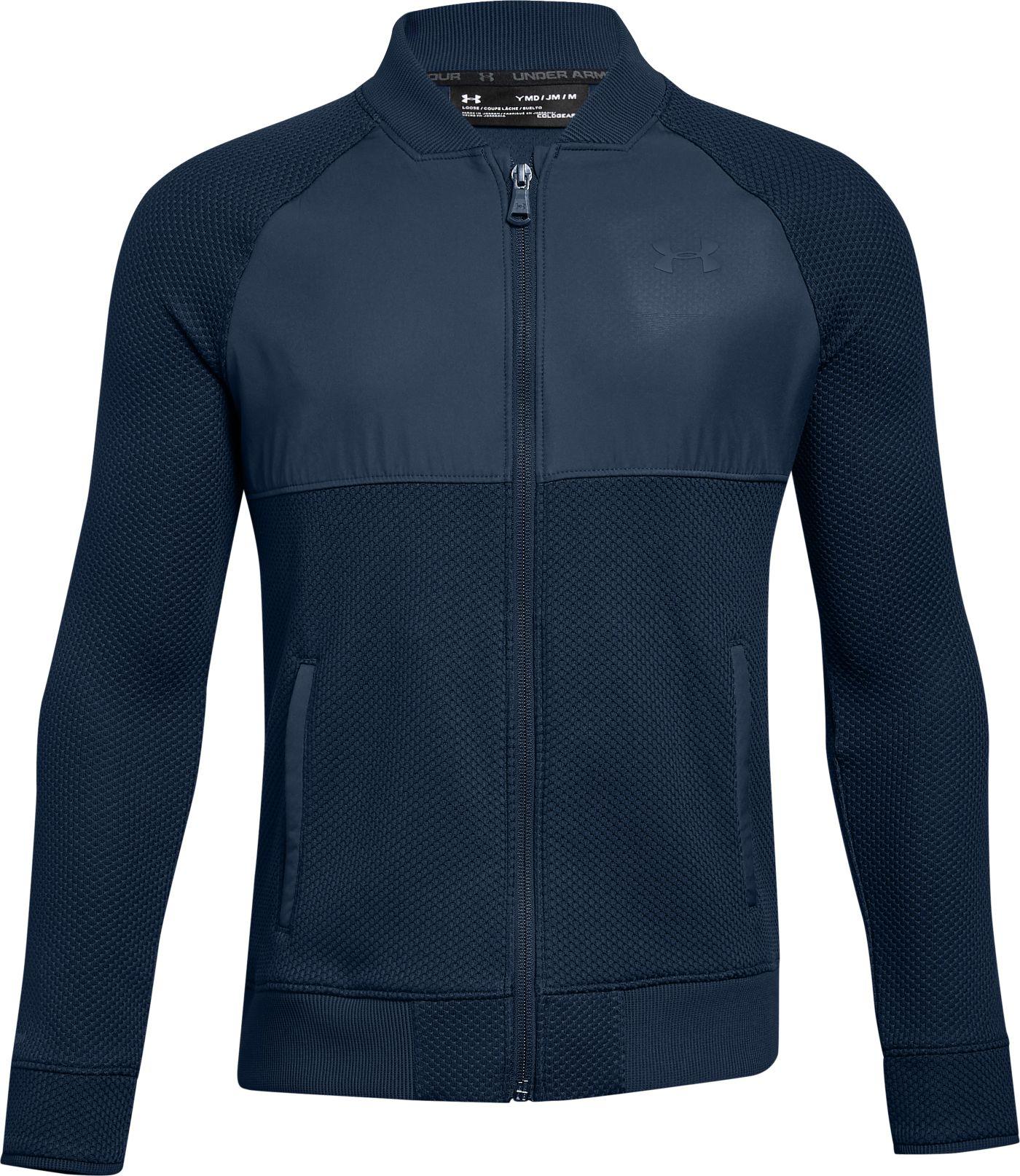 Under Armour Boys' Storm SweaterFleece Hybrid Golf Jacket