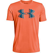 Under Armour Boys' Tech Big Logo Graphic Solid T-Shirt