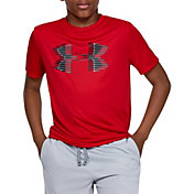 Under Armour Boys' Tech Big Logo Graphic Solid T-Shirt