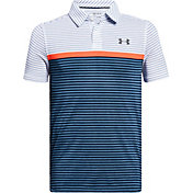 Under Armour Boys' Threadborne Super Stripe Golf Polo