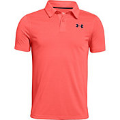 Under Armour Boys' Threadborne Pattern Golf Polo