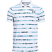 Under Armour Boys' Bold Stripe Threadborne Golf Polo