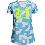 Under Armour Girls' Big Logo Novelty T-Shirt